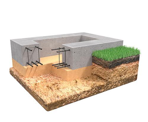 Ленточный фундамент от АПС ДСК - строительство дома за городом