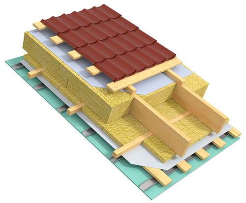Металлочерепица для крыши дома из клееного бруса или газобетонных блоков