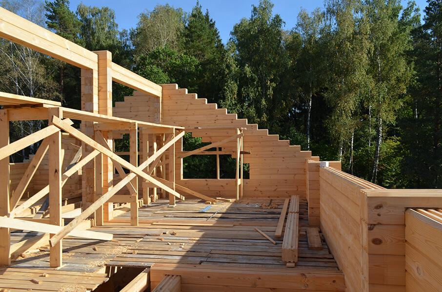 Строительство первого этажа в комбинированном доме